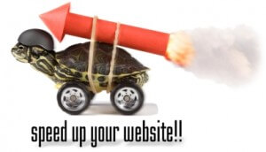 speed up slow loading website